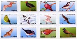 sam130301 Samoa 2013 Threatened Species Definitive Part 1 Bat Bird 12v