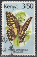 Kenya, 1988/90 - 3,50sh Papilio Demodocus - Nr.434 Usato° - Kenia (1963-...)