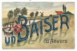 CPA - ANTWERPEN - Un Baiser D´ ANVERS - Carte Fantaisie - Publicité  // - Antwerpen