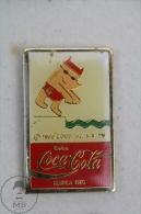 Olympic Games Barcelona 1992 - Cobi Mascot Swimming - Coca Cola Advertising - Pin Badge #PLS - Coca-Cola