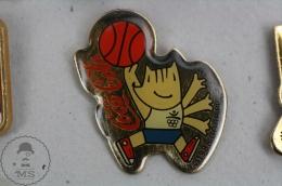 Olympic Games Barcelona 1992 - Cobi Mascot Playing Basketball - Coca Cola Advertising - Pin Badge #PLS - Coca-Cola