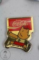 Olympic Games Barcelona 1992 - Cobi Mascot Running - Coca Cola Advertising - Pin Badge #PLS - Coca-Cola