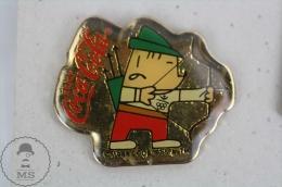 Olympic Games Barcelona 1992 - Cobi Mascot Archery - Coca Cola Advertising - Pin Badge #PLS - Coca-Cola