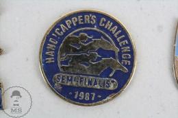 HANDICAPPER´S CHALLENGE Semi-Finalist 1987 - Horse Racing - Pin Badge #PLS - Pin