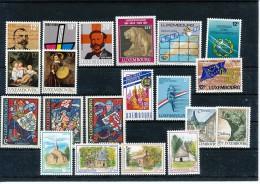 LUXEMBURG  Mi.Nr. 1214-1235 Marken Aus Jahrgang 1989  - Siehe Scan - MNH - Luxembourg
