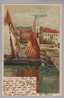 AK Kroatien Lovrana Hafen 1907-06-28 Künstlerlitho Zieher - Croatie