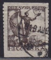 Yugoslavia Croatia 1919 Definitive, Error - Partly Imperforated, Used (o) - Non Dentelés, épreuves & Variétés