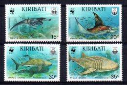 Kiribati - 1991 - Endangered Species/Fishes - MNH - Kiribati (1979-...)