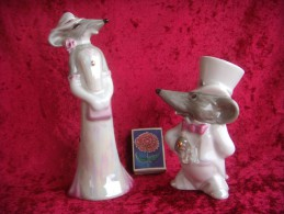 Characters. The Manners. Animals - People. Porcelain. 180 And 130 Mm. Ukraine. Korosten.  Small Circulation. The Plan - Sculptures