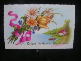 Pb N°43  / Brabant Wallon, Mont-Saint-Guibert / Souvenir De Mont-St-Guibert   / Circulé 1964  .- - Mont-Saint-Guibert