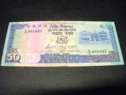MAURICE 50 Rupees 1986, Pick N°37 B, MAURITIUS - Maurice