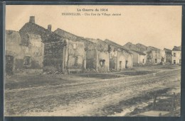 - CPA 54 - Hudiviller, Une Rue Du Village Sinistré - France