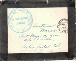 TAMPON CACHET SECTION PROJECTEURS N� 30 ARTILERIE ANTI AERIENNE DCA GENIE GUERRE 1916