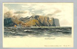 AK Norwegen Nordkap Ca. 1898 Litho Ungebraucht B.Antelmann - Norvège