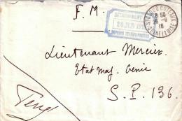 TAMPON CACHET DETACHEMENT SAPEURS TELEGRAPHISTES GENIE TRANSMISSIONS GUERRE 1916