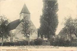 Depts Divers- Yvelines -ref AA852-  Favrieux - L Eglise Et L Arbre De La Liberte - Arbres De La Liberte - Theme Arbres - - Autres Communes