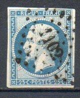 FRANCE - 1852 - Prince-président Louis-Napoléon - N° 10 - 25 C. Bleu (Oblitération : Losange Petits Chiffres) - 1852 Luigi-Napoleone