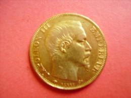 Monnaie De 20 Françs OR Napoleon 3 1856 A - Qualité - Voir 2 Scans - Or