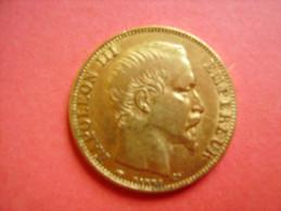 Monnaie De 20 Françs OR Napoleon 3 1857 A - Qualité - Voir 2 Scans - Or