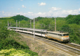 CPM LE RAIL USSELLOIS N° 280 BB 9308 PARIS TOULOUSE Après La Gare De UZERCHE 19 - Trenes
