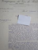 Lettre De La Compagnie Du Gaz De Paris, 1940 - Vieux Papiers