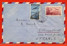 YOUGOSLAVIE AEROGRAMME 5D DE 1949 DE BELGRADE POUR PITHIVIERS FRANCE - 1945-1992 République Fédérative Populaire De Yougoslavie