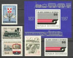Austria - Various Issues MNH TRAINS - Trains