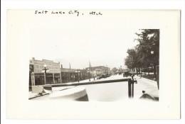 SALT LAKE CITY (Etats Unis) Carte Photo Prise D'une Automobile Rue - Salt Lake City