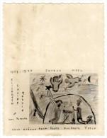 Carte De Voeux Sur Papier Photo, Dessin, Crèche, Anges - Photos
