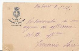 R-3°DIVISIONE DI CAVALLERIA(LOMBARDIA)COMANDO-CARTOLINA INTESTATA - Regimenten