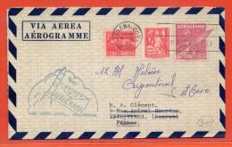 CUBA AEROGRAMME 10C DE 1957 DE LA HAVANE POUR PITHIVIERS FRANCE - Poste Aérienne