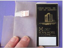 MISC HOTEL MOTEL PENSION HOUSE MOTOR RESIDENCE INN ROYAL SAS SWEDEN LUGGAGE LABEL ETIQUETTE AUFKLEBER DECAL STICKER