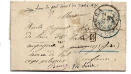 NDP133 / Norddeutsche Postbezirk - Gefangenenpost, Portofrei, 1871 Ex Gera Nach Frankreich Via Schweiz - Norddeutscher Postbezirk