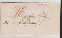 Mes016/ Dienstbrief ex Schwerin mit Papier-Trockensiegel Grossherzog Friedrich Franz