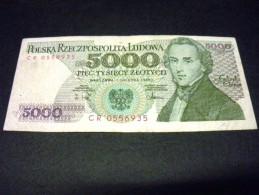 POLOGNE 5000  Zlotych 01/12/1988, 1982-1988,pick N° 150 C, POLSKA, POLAND - Polonia