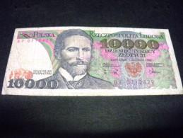 POLOGNE 10000  Zlotych 01/12/1988, 1987-1988,pick N° 151 B, POLSKA, POLAND - Polen