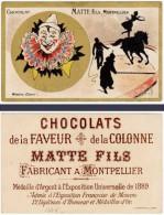 Chromo Chocolat Matte Fils, Montpellier - Mossieu Clown ( Cirque, Cheval ) - Chocolat