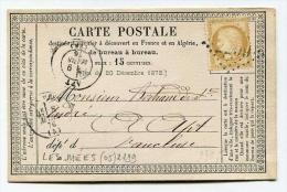 !!! CARTE PRECURSEUR CERES CACHET DES MEES 1876 - Entiers Postaux