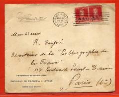 ARGENTINE LETTRE DE 1927 DE BUENOS AIRES POUR PARIS FRANCE - Argentina