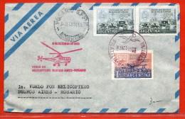 ARGENTINE LETTRE PAR HELICOPTERE DE 1959 DE BUENOS AIRES POUR ROSARIO - Argentina