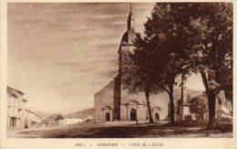 CPA GERARDMER - PLACE DE L'EGLISE - Gerardmer