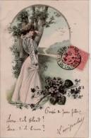 Edmond Bruning  Femmes  Fleurs - Autres Illustrateurs