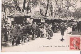 MARSEILLE 25 COURS SAINT LOUIS (MARCHE AUX FLEURS) BELLE ANIMATION 1916 - Old Professions