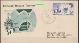 AAT 1957 GPO Sydney FDC Ca 27 Mr 57 (21117) - FDC