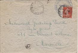 Lettre En Franchise Militaire D'Oran 1926 - Timbres
