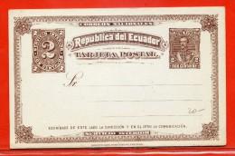 EQUATEUR ENTIER POSTAL 2C NEUF - Equateur