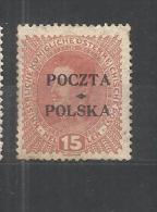 POLONIA-1919-Overprints.DA 15H-.NUOVO L---XX - Ongebruikt