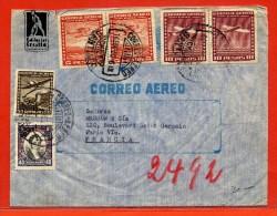 CHILI LETTRE DE 1939 DE SANTIAGO POUR PARIS FRANCE - Chili