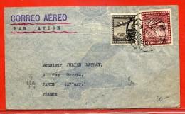 CHILI LETTRE DE 1937 DE SANTIAGO POUR PARIS FRANCE - Chili