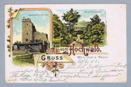 AK Polen Gottesberg 1901-06-20 Hochwald 850m Litho Tasche - Pologne
